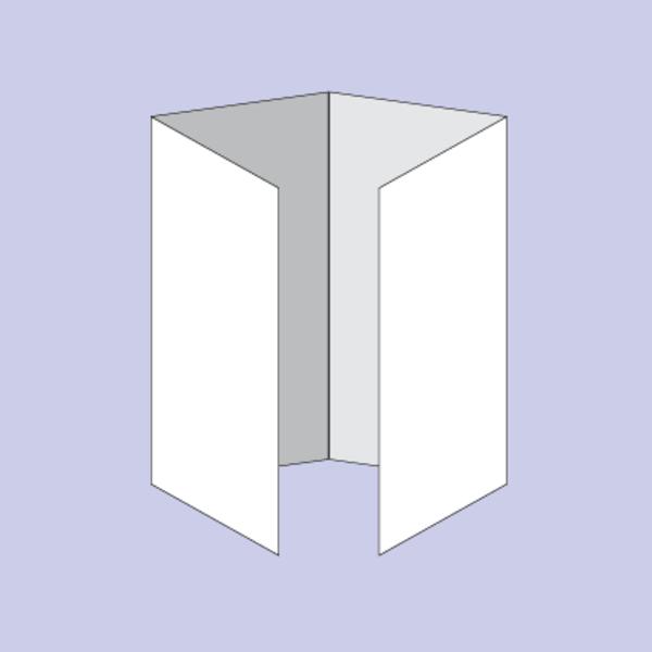 Druck von Beipackzettel als Altarfalz/Wickelfalz