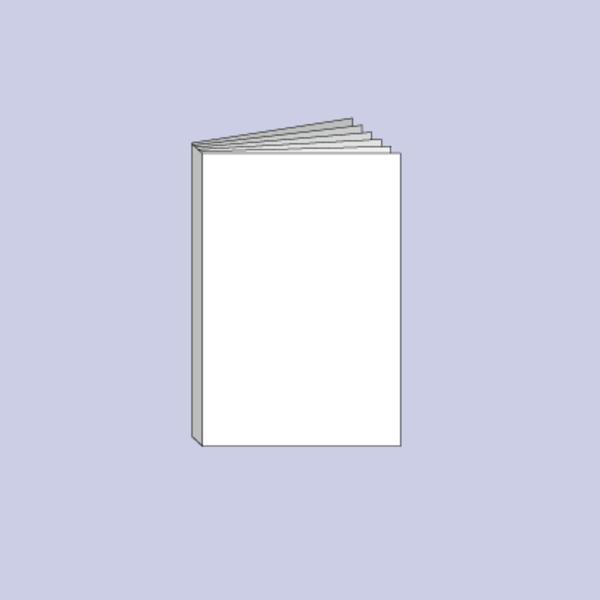 Druck von Booklet mit Klebebindung