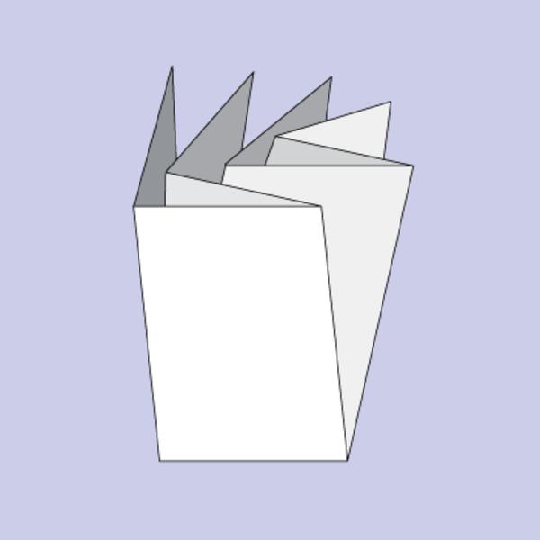 Druck von Beipackzettel als Kreuzfalz