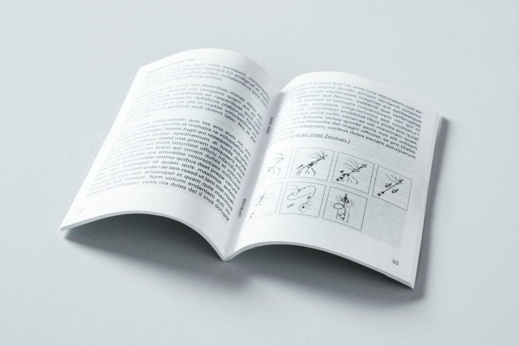 Druck von Booklets