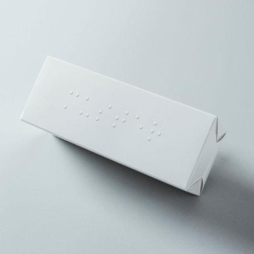 Faltschachtel mit Blindenschrift bedrucken